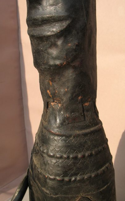 Copper Plate Statue, Detail c